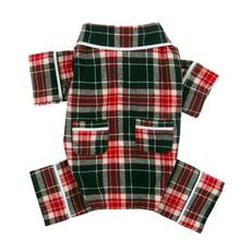 Fab Dog Plaid Flannel Dog Pajamas - Blue