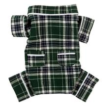 fabdog® Plaid Flannel Dog Pajamas - Green