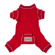 Fab Dog Thermal Dog Pajamas - Red
