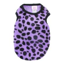 Faux Fur Dalmatian Dog Tank - Purple