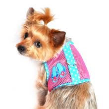 Flip Flop Mesh Dog Harness - Pink and Ocean Blue