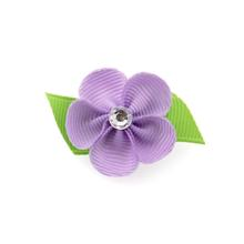 Flower Dog Bow with Alligator Clip - Light Orchid