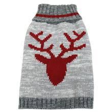 FouFou Dog Heritage Dog Sweater - Deer in Red