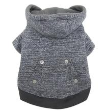 FouFou Heathered Dog Hoodie - Gray
