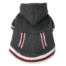 FouFou Heritage Knit Dog Hoodie - Charcoal