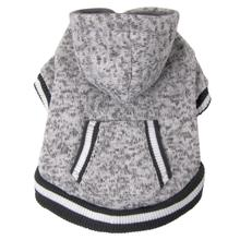 FouFou Heritage Knit Dog Hoodie - Heather Gray