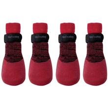 FouFou Rubber Dipped Dog Socks - Red