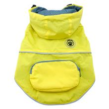 FouFouDog Rainy Day Dog Poncho with Built-in Travel Pouch - Yellow
