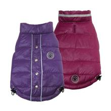 FouSki Reversible Dog Parka - Purple/Rose