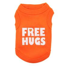 Free Hugs Dog Tank by Parisian Pet - Orange