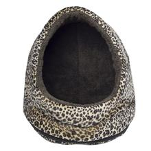 FurHaven Animal Print Terry Hood Pet Bed - Cheetah