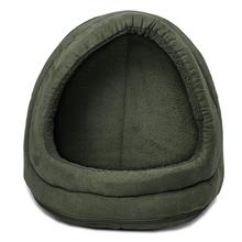 FurHaven Snuggle Terry & Suede Hood Pet Bed - Forest