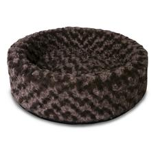 FurHaven Ultra Plush Cup Pet Bed - All Plush - Chocolate