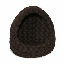 FurHaven Ultra Plush Hood Pet Bed - Chocolate
