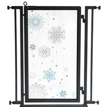 Fusion Gate - Pet Gate - Cool Winter - Black Finish