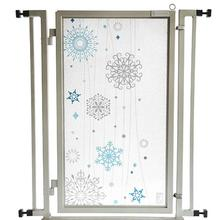Fusion Gate Pet Gate - Cool Winter - Satin Nickel Finish