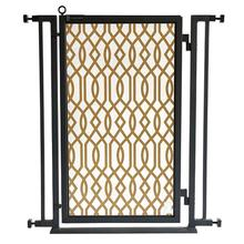 Fusion Gate - Pet Gate - Gold Lattice - Black Finish
