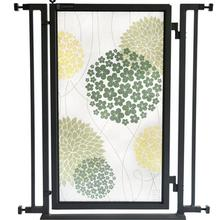 Fusion Gate - Pet Gate - Green Garden - Black Finish