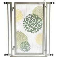 Fusion Gate Pet Gate - Green Garden - Satin Nickel Finish