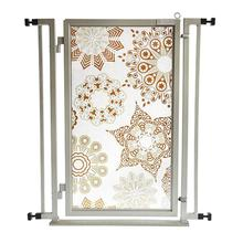 Fusion Gate Pet Gate - Moravian Stars - Satin Nickel Finish