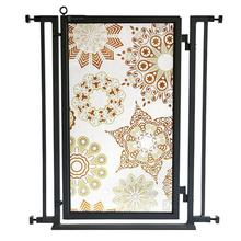 Fusion Gate - Pet Gate - Moravian Stars - Black Finish