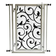 Fusion Gate Pet Gate - Songbirds - Satin Nickel Finish