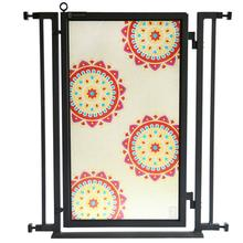 Fusion Gate - Pet Gate - Sun Stars - Black Finish