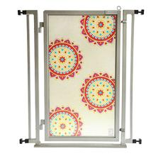 Fusion Gate Pet Gate - Sun Stars - Satin Nickel Finish
