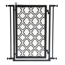 Fusion Gate - Pet Gate - Trellis - Black Finish