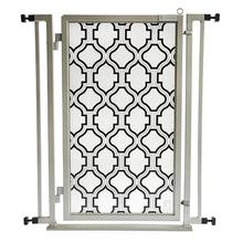 Fusion Gate Pet Gate - Trellis - Satin Nickel Finish