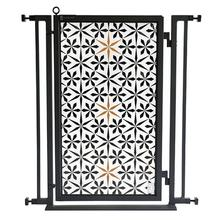 Fusion Gate - Pet Gate - Urban Quilt - Black Finish