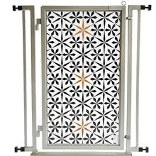 Fusion Gate Pet Gate - Urban Quilt - Satin Nickel Finish