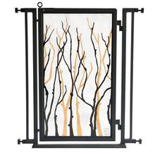 Fusion Gate - Pet Gate - Willow Branch - Black Finish