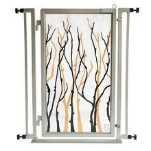 Fusion Gate Pet Gate - Willow Branch - Satin Nickel Finish