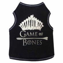 Game of Bones Dog Tank - Black