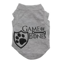 Game of Bones Screen Print Dog Shirt - Gray