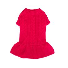 Georgia Dog Sweater Dress - Red