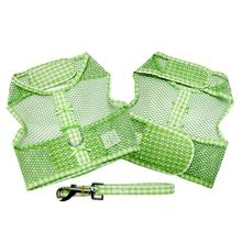 Gingham Cool Mesh Dog Harness by Doggie Design - Green