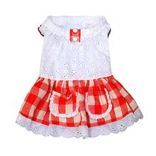Gingham Country Dog Dress by Parisian Pet - Red