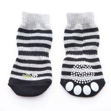 Go Fresh Pet Anti-Slip Dog Socks - Grey Stripes