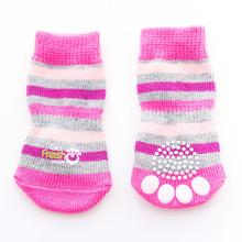Go Fresh Pet Anti-Slip Dog Socks - Pink Stripes