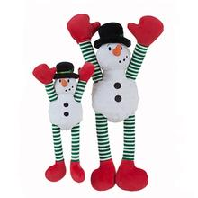 GoDog Crazy Tugz Snowman Dog Toy with Chew Guard