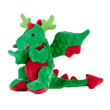 GoDog Holiday Reindeer Dragon Dog Toy - Green