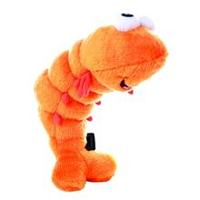 GoDog Shellfish Shrimp Dog Toy - Orange