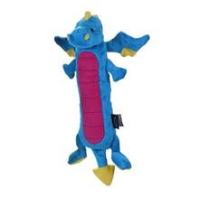 GoDog Skinny Dragon Dog Toy - Blue