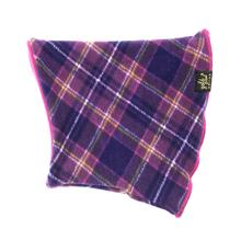 Gold Paw Dog Snood - Mulberry Plaid/Fuchsia