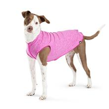 Gold Paw Sun Shield Dog Shirt - Fuchsia