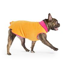 Gold Paws Reversible Double Fleece Jacket - Fuchsia/Orange