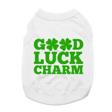 Good Luck Charm Dog Shirt - White
