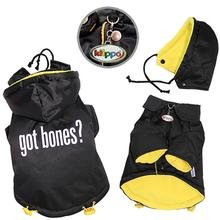 Got Bones? Padded Dog Coat with Removable Hoodie by Klippo